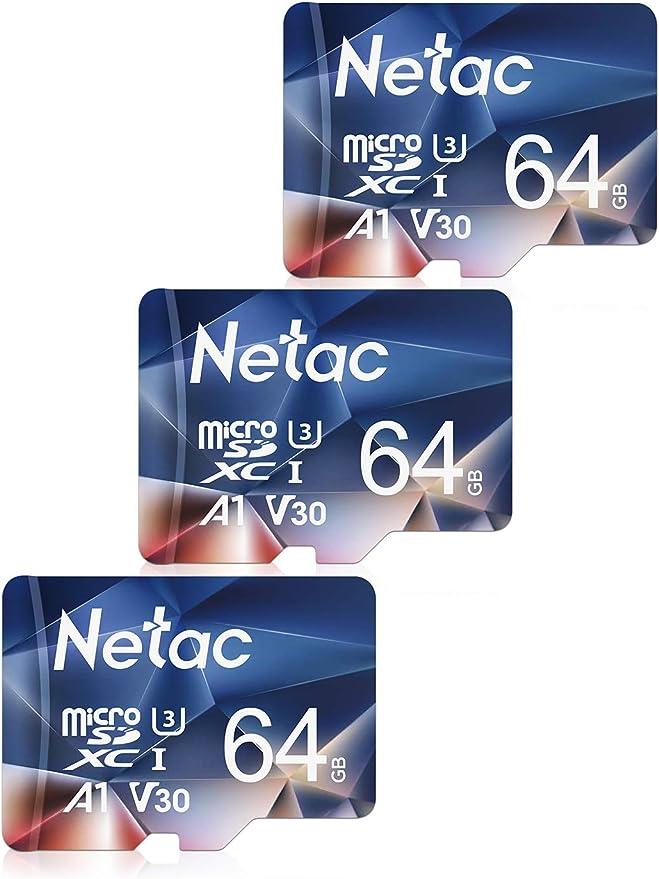 Netac Tarjeta de Memoria Micro SD 64 GB, Tarjeta microSDXC con ...