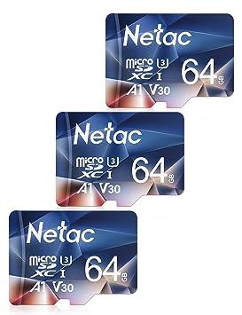 Netac Tarjeta de Memoria de 64GB, Tarjeta Memoria microSDXC(A1, U3 ...