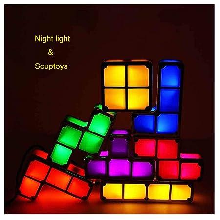 DanNN Tetris lámpara apilable LED Mesa luz Estado de ánimo luz ...
