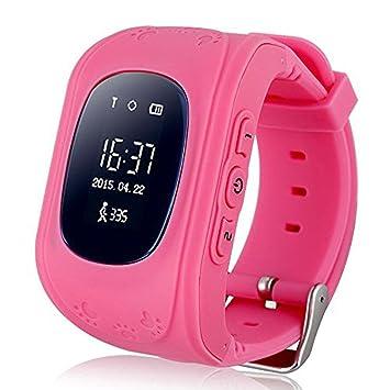 Jslai Reloj Localizador Niños Kids Reloj Inteligente para niños niñas Reloj Digital con Anti-Lost SOS Button Reloj Inteligente Gran Regalo para niños ...