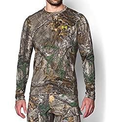 Under Armour Men's UA TechTM Scent Control Long Sleeve T-Shirt,REALTREE AP-XTRA/Velocity,Large