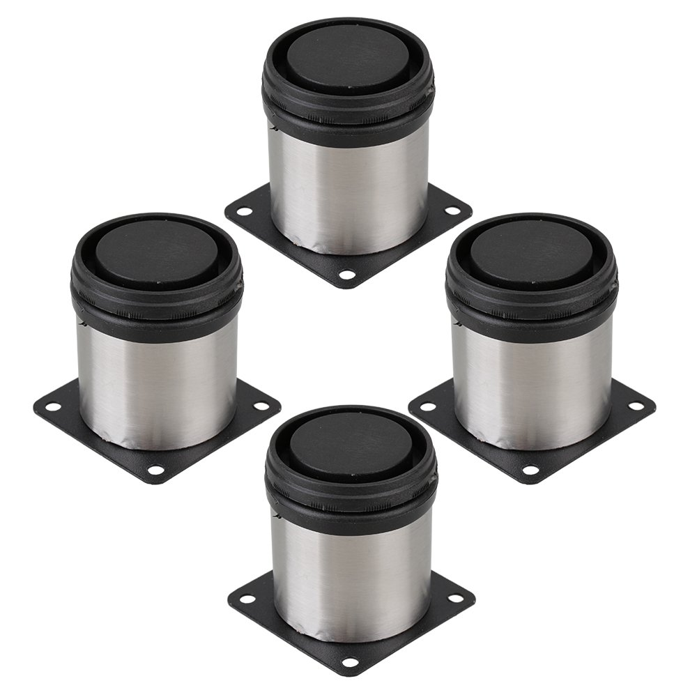 RDEXP Stainless Steel Metal Table Legs Furniture Cabinet Kitchen Adjustable Stand 6CM Height Pack of 4