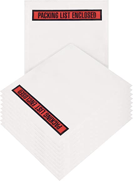 7 x 6 Red 2 Mil Poly Box Packaging Important Papers Enclosed Envelope Case of 1,000