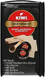 KIWI Shoe Shine Kit, Black - Gives Shoes Long-Lasting Shine and
