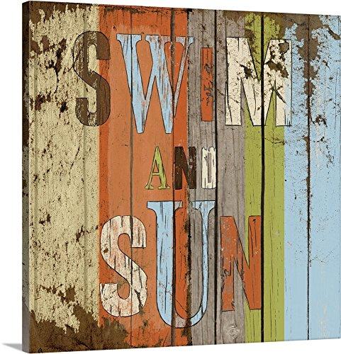 Elizabeth Medley Premium Thick-Wrap Canvas Wall Art Print entitled Swim and Sun 16