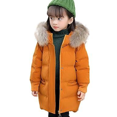fc57c20e6812 Pagacat Blouson Manteau Fourrure Chaud Enfant Garçon Fille Doudoune à  Capuche - Veste à Manches Longues