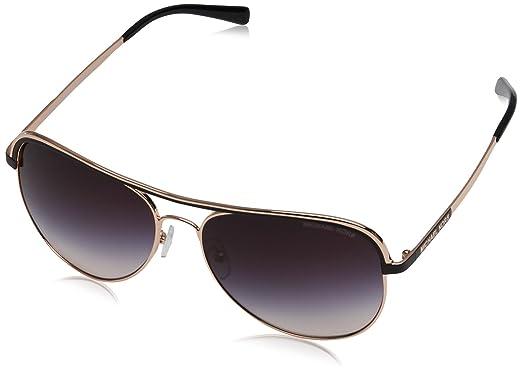 1ea90706c8 Michael Kors MK1012 110836 Rose Gold Vivianna I Pilot Sunglasses ...