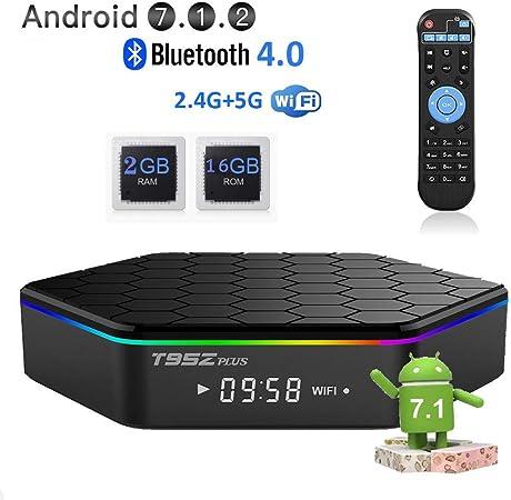 Android 7.1 TV Box, ROM 3GB ROM 32GB Decodificador De Memoria, Wi-Fi 2.4/5.8G Smart TV Box Quad-Core HD 4K Mini TV Box,2gb+16gb: Amazon.es: Hogar
