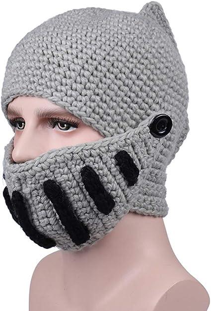 WGFGQX Cappello Lavorato A Maglia Inverno Caldo Gladiatore Cappello Maschera A Maglia Fatta A Mano,Navy