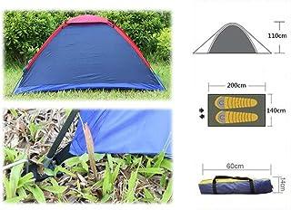 SHUFAGN,Pique-Nique Voyage randonnée Aventure Camping en Plein air Tente de Fibre de Polyester Poteau en Fibre de Verre pour Deux Personnes avec Sac(Color:Couleur ALÉATOIRE)