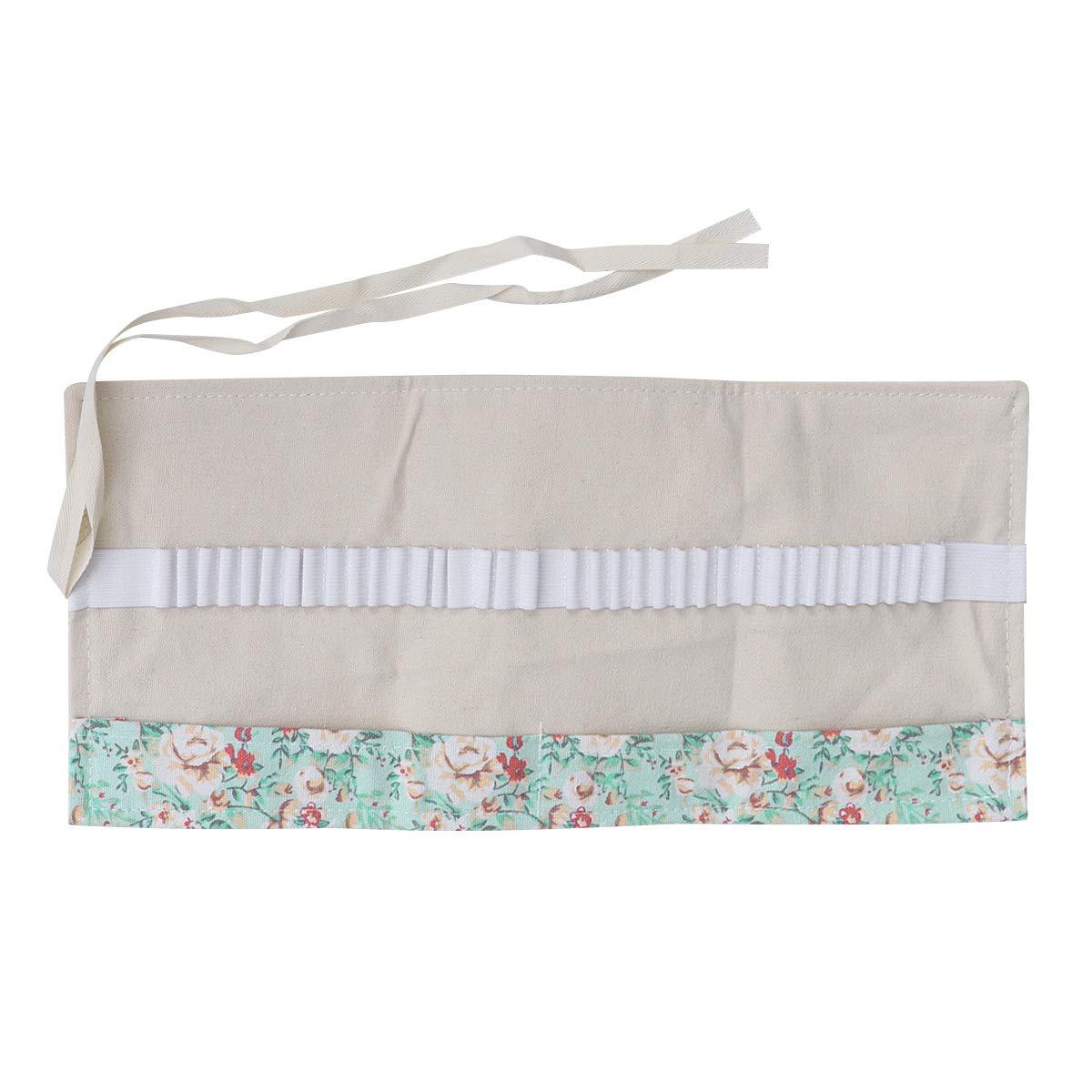 rosa fresca Toyvian 36 Slots Estuche enrollable organizadores lavables bolsa para l/ápices almacenamiento Wrap bolsa soporte estilo /étnico para grader ni/ña pintura