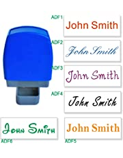 Custom Name Signature Self Inking Stamp - 1 Line 31x10mm (Black)