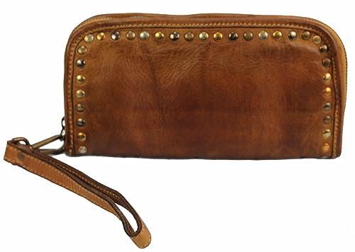 BOZANA BERLIN - Cartera para mujer de Piel Mujer marrón cognac marrón: Amazon.es: Zapatos y complementos