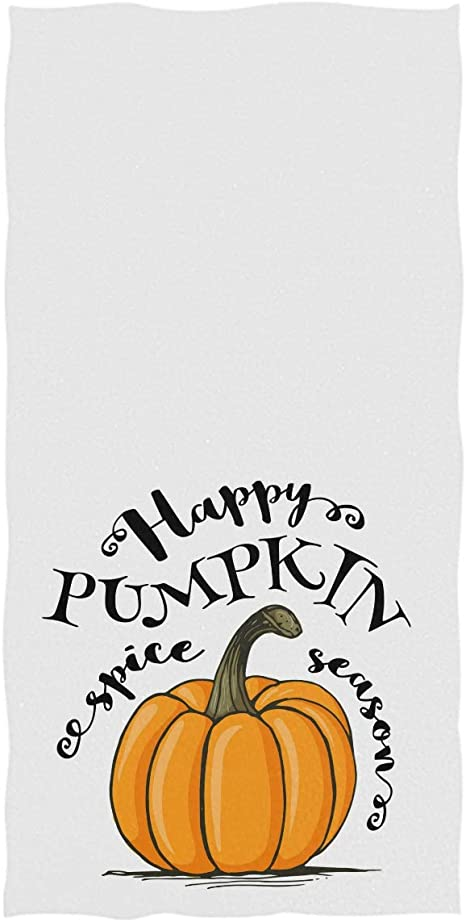 Thanksgiving Turkey Pumpkin Hand Towels 16x30 in Autumn Harvest Maple Leaf Bathroom Towel Ultra Soft Highly Absorbent Small Bath Towel Kitchen Dish Guest Towel Home Bathroom Decorations