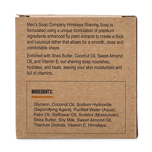 Men's Soap Company Shaving Soap for Men and Women 4.0 oz Refill Puck Made with Natural Vegan Plant Ingredients. Shea…
