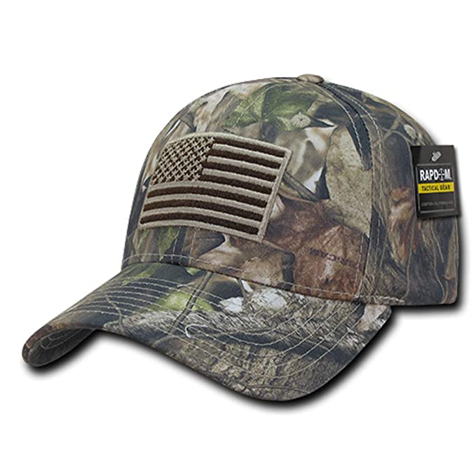 b35812123f4d4a Image Unavailable. Image not available for. Color: Rapid Dominance US  American Flag Hybricam Mossy Camouflage Camo Baseball Cap ...