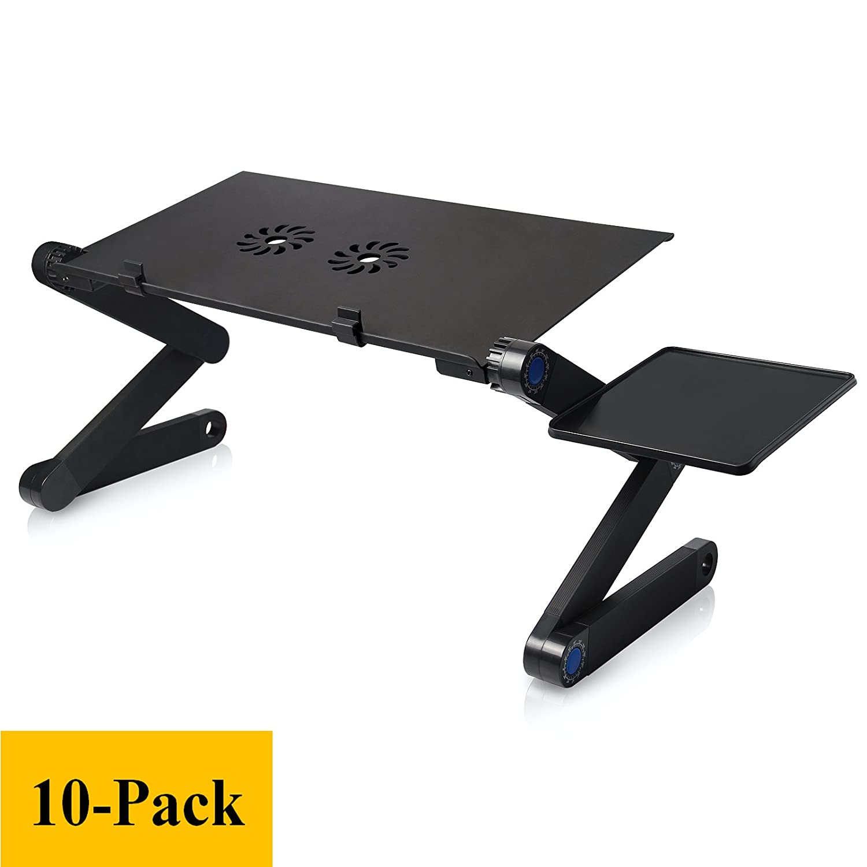 10個パックラップトップスタンド冷却ファン、調節可能なラップトップスタンドテーブルベッド/ソファノートパソコン冷却パッド、人間工学デザイン、ポータブル B07DVCXTGJ