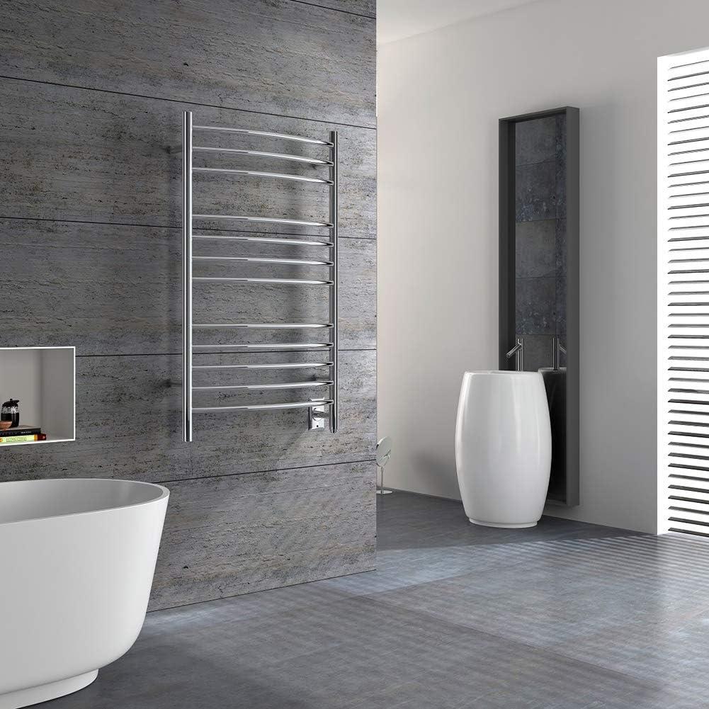 HEATGENE Towel Warmer Wall Mount Electric Plug-in//Hardwired Heated Towel Rack Mirror Polish