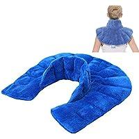 LIBINA - Cojines Térmicos Cuello calentado y envoltura de hombro, almohadilla de compresa caliente almohadilla de compresa caliente, kit de tratamiento de la enfermedad de la espondilosis cervical periférica del hombro del hombro