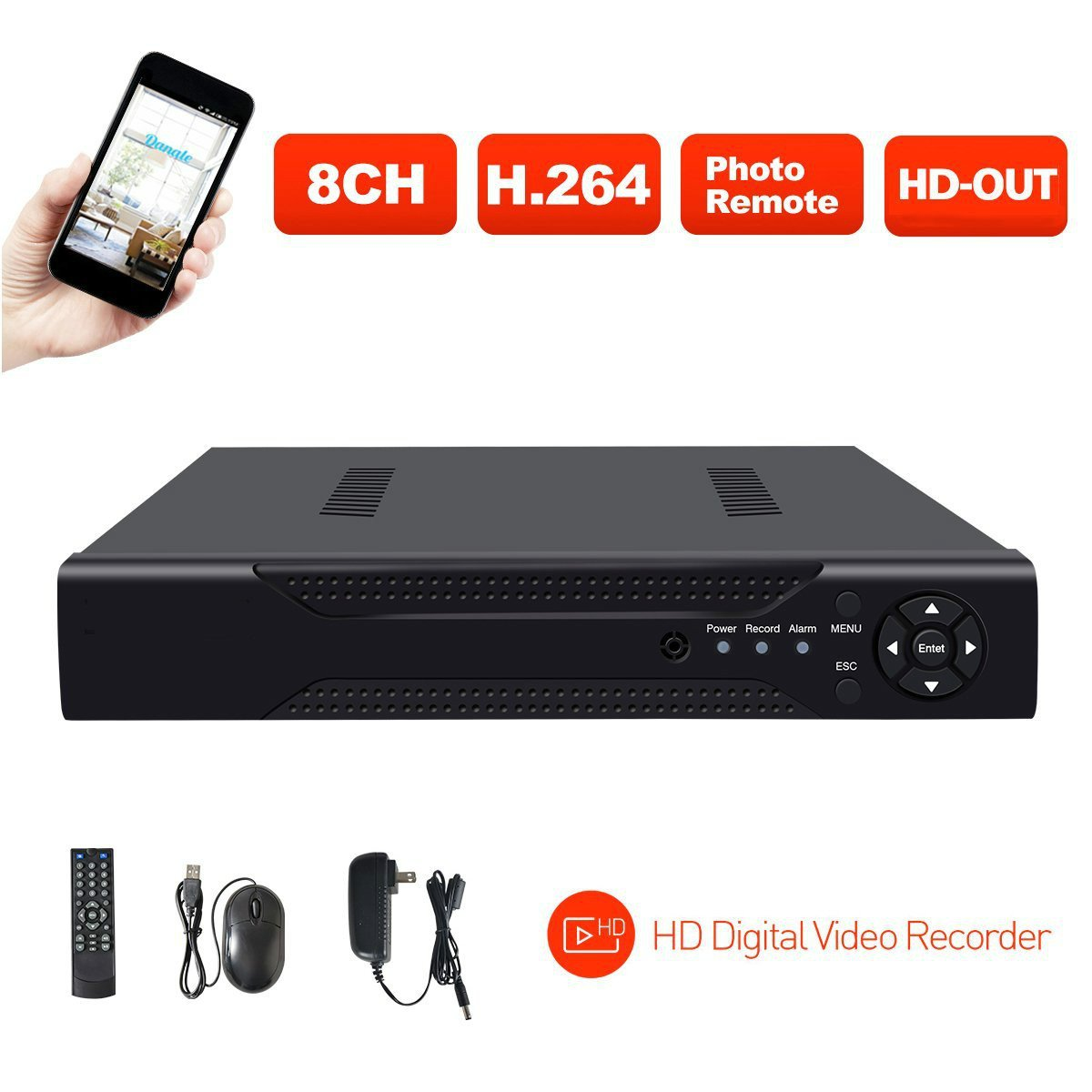 ABOWONE 8CH 1080P DVR Digital Video Recorder Network HD Video Recorder for Security Servillance system