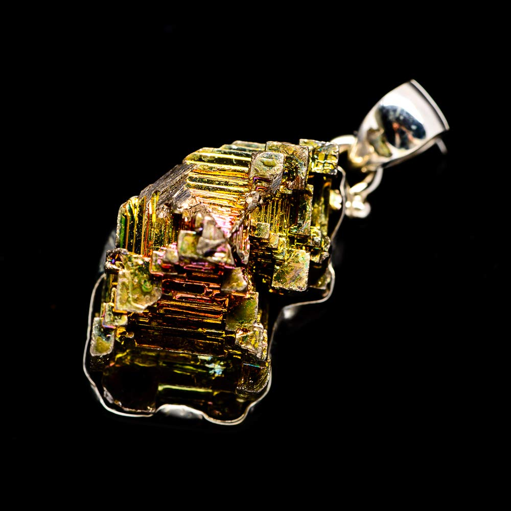 925 Sterling Silver Vintage PD679767 - Handmade Jewelry Bohemian Ana Silver Co Bismuth Crystal Pendant 1 1//2