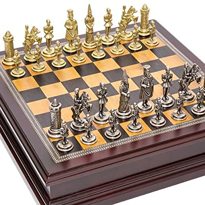 Camila Chessmen & Liberty Street Chess Board with Storage from Italy