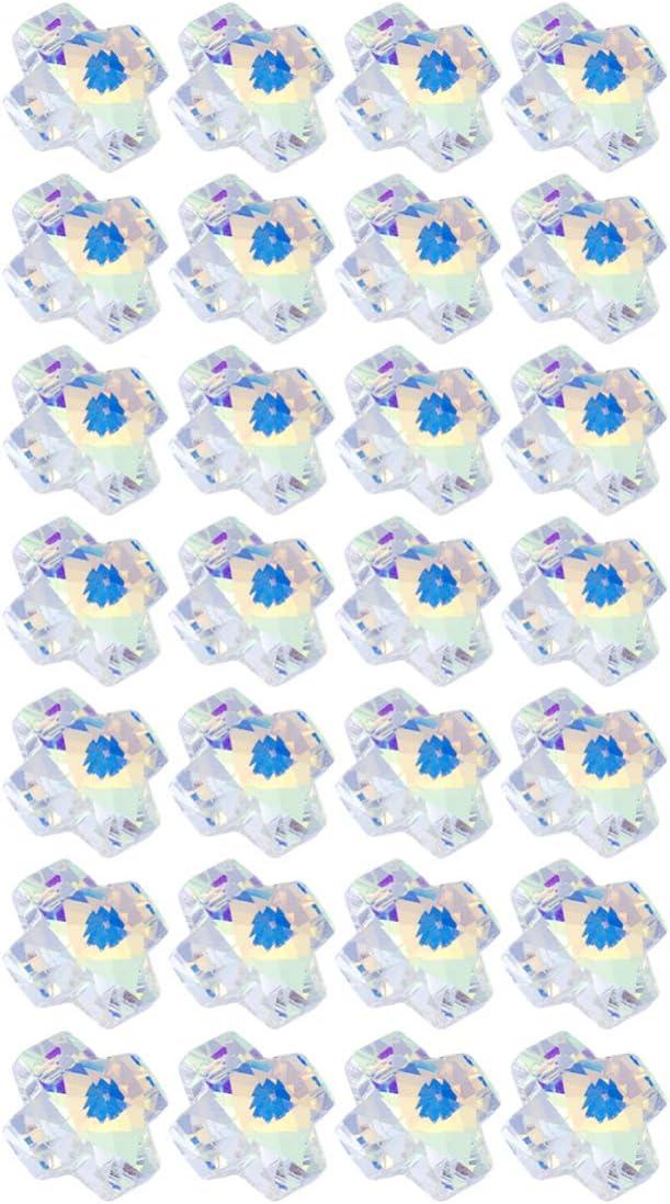 Healifty 28 piezas encantos cristal ab cristal colgante artesanal cuentas de piedras preciosas para la fabricación de joyas pulsera collar lámpara lámpara lámparas decoraciones (cruz)