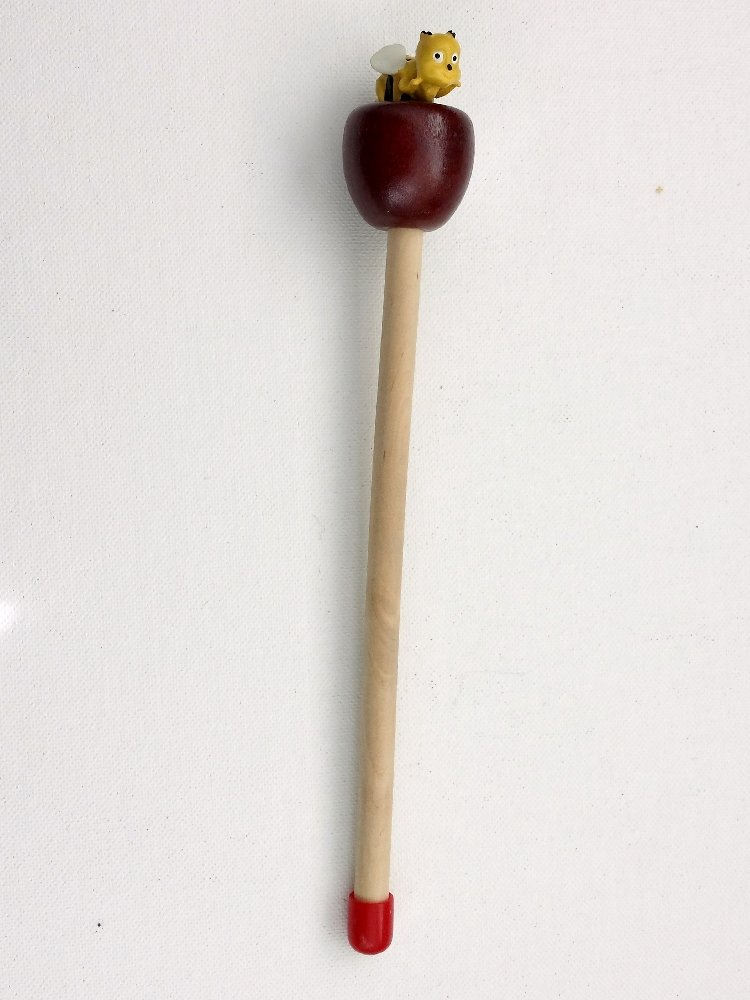 Wooden Pointer, AA-780AP36 - 36'' MADE IN USA w/ROUND APPLE & red rubber end cap, perfect for smart board screen.