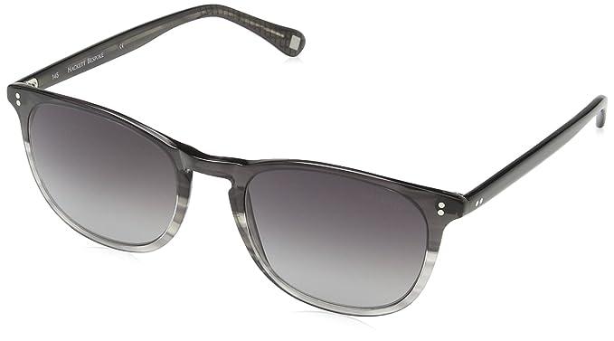 Hackett Bespoke - Lunette de soleil HSB838 001 Ronde - Homme - Black Grad   Grey 7bea590e5c56
