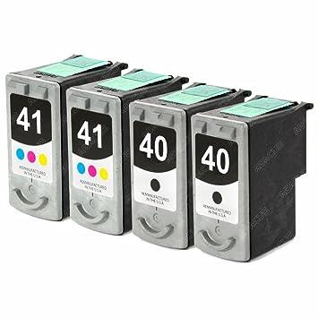 4 x Canon PG-40 / CL-41 cartuchos de tinta remanufacturados para ...