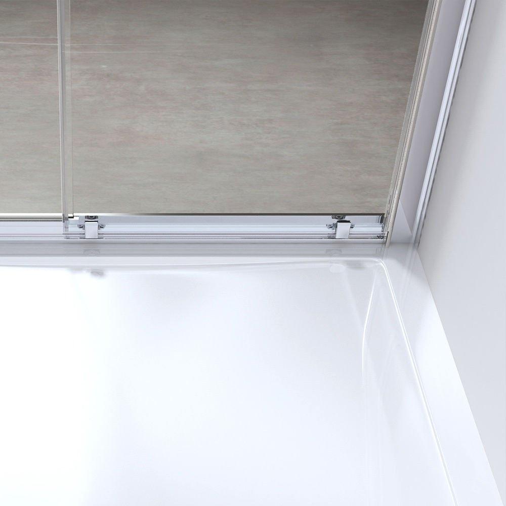 Sogood porte de douche coulissante paroi de douche avec porte glissante verre de s/écurit/é vitrification nano anti-calcaire Teramo12 90X190cm