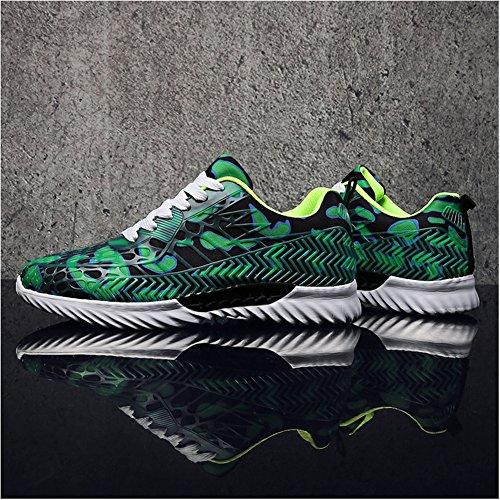 Leader Show Herrenmode Sportschuhe Laufschuhe Lace-up Comfort Walking Sneakers Grün