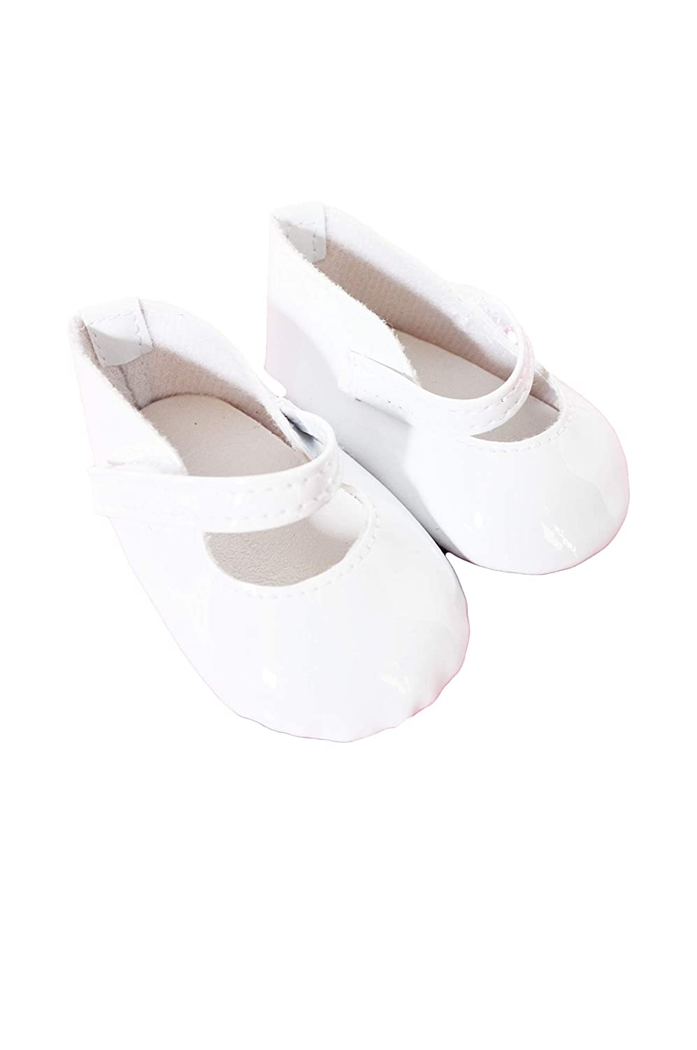 "WHITE w// Satin Bow Ballet Flats DOLL SHOES fits 18/"" AMERICAN GIRL Doll Clothes"
