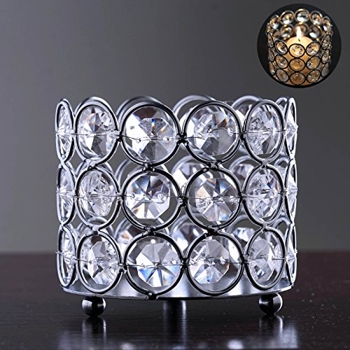 Efavormart Bejeweled Blitz Votive Tealight Wedding Crystal Candle Holder - 3.25