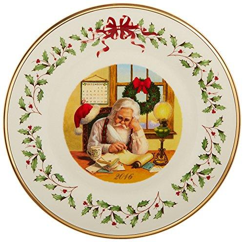 Lenox 2016 Annual Holiday Santa Collectors plate Santa checking the list