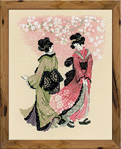 RIOLIS 1508 - Cherry Blossom - Counted Cross Stitch Kit 9½