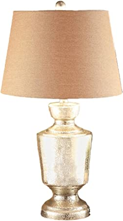 &Luz para Leer Lámpara de Mesa Simple Lámpara de Mesa de Vidrio Dormitorio Lámpara Cama Sala de Estar Luces Decorativas Luces de Noche Lámpara de Noche (Color : A): Amazon.es: Hogar