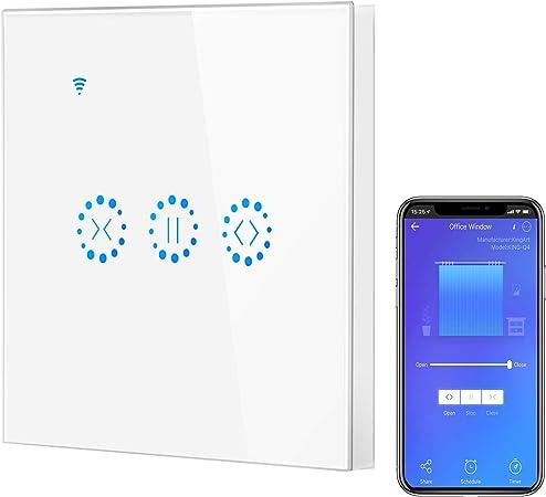 BeauFlw Interrupteur Module Volet Roulant Connect/é Commande Vocale Commutateur Rideau Stores Wifi Intelligent Compatible avec Alexa//Google Home Contr/ôle /à Distance et Minuterie