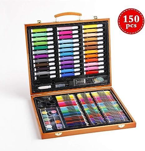 Arte fijado, 150PCS embalajes de madera profesional de niños dibujo de lápiz coloreado del artista kit