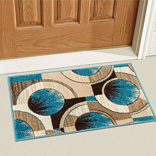 ue Yolo Modern Abstract Geometric 2' x 3' Mat Accent Area Rug ()