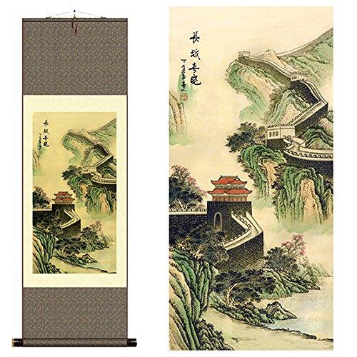 sunmir (TM Silk Scroll Painting The Great Wall Landscape Scenery