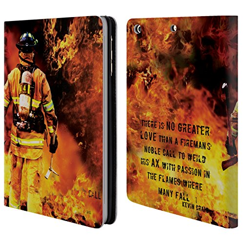Price comparison product image Official Jason Bullard Fireman's Noble Call Firefighter Leather Book Wallet Case Cover For Apple iPad mini 1 / 2 / 3