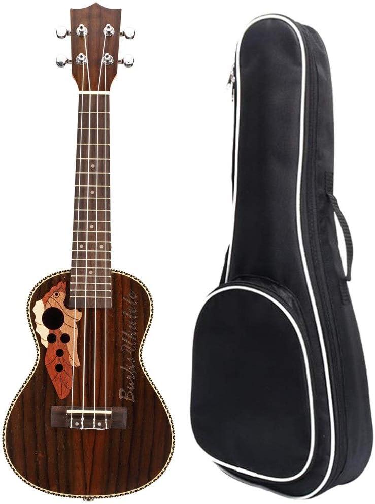 Ukelele Mini 21 Pulgadas Soprano Ukulele Madera Cuerdas de Nylon Uke Hawaii Guitarra Con Bolso Gigante Para Niños Estudiantes Principiantes Instrumentos Musicales regalos Adecuado para amantes de la m