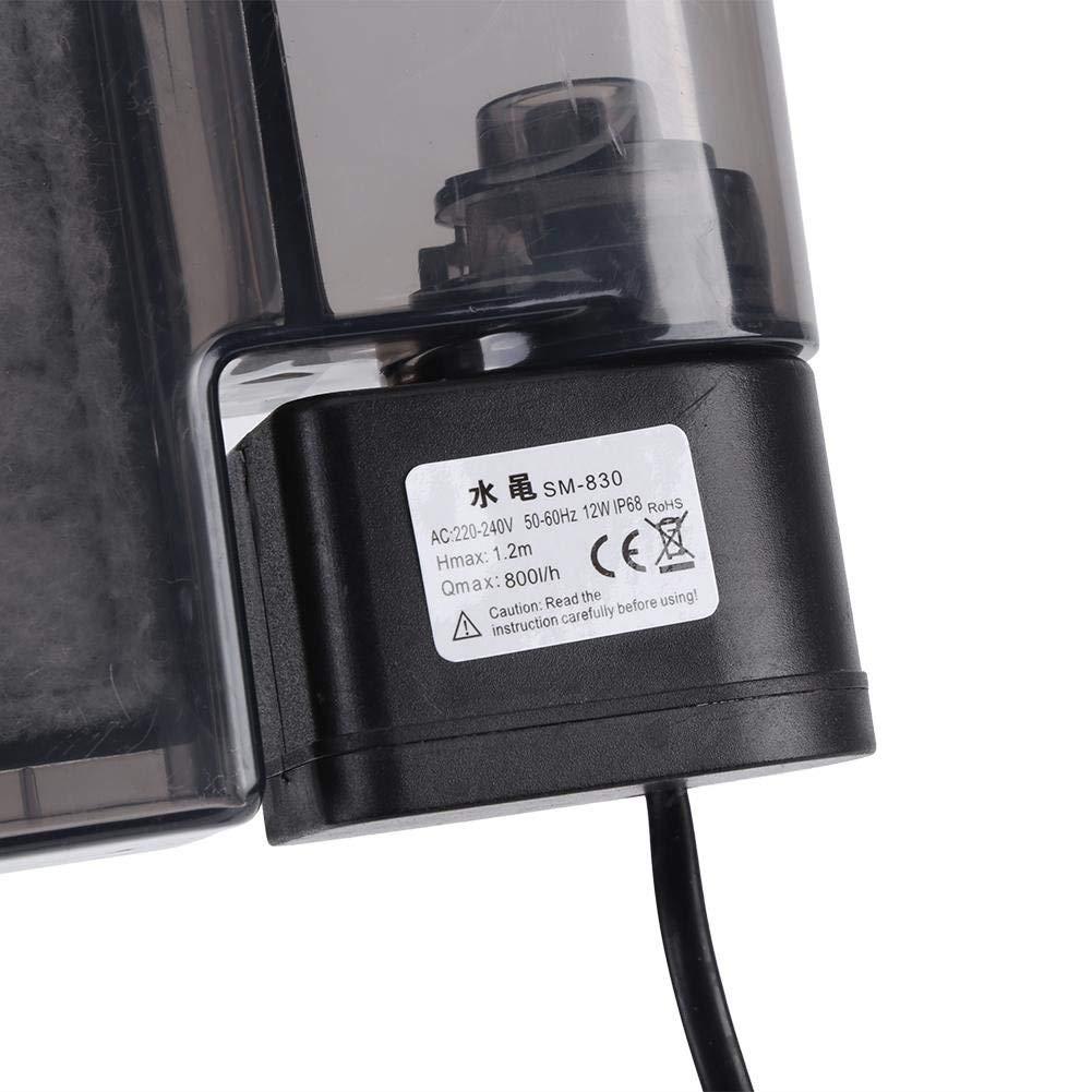 Fdit Distributore D acqua filtrata esterno per pesci filtro d acquario accrochant il filtro di serbatoio di pesci sospeso di puissancen per il sistema di circolazione dell acqua EU 220V-240V