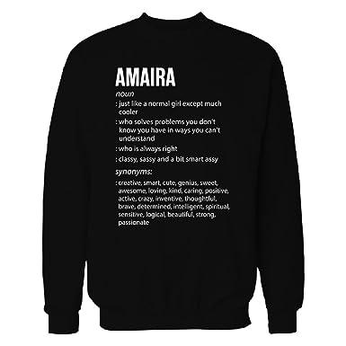 Amazon amaira name meaning xmas birthday gift sweatshirt inked creatively amaira name meaning xmas birthday gift sweatshirt black s negle Gallery
