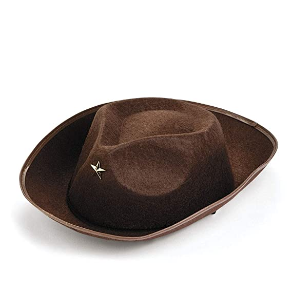 f0f8304d21b Fun Express Oriental Trading Company Brown Childs Cowboy Hat (Pack of 12)   Amazon.in  Clothing   Accessories