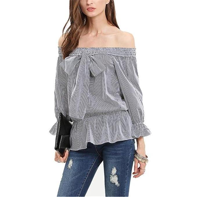 2016 AWF de la blusa del hombro Forever 21 camisas de manga larga para las mujeres
