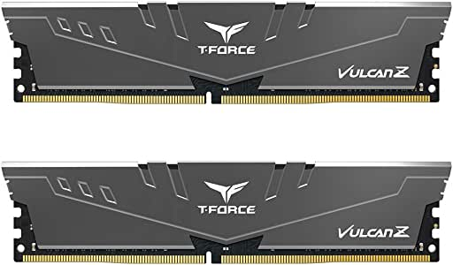 Team T-Force Vulcan Z 16GB (2X 8GB) DDR4 3200MHz Memory - Grey