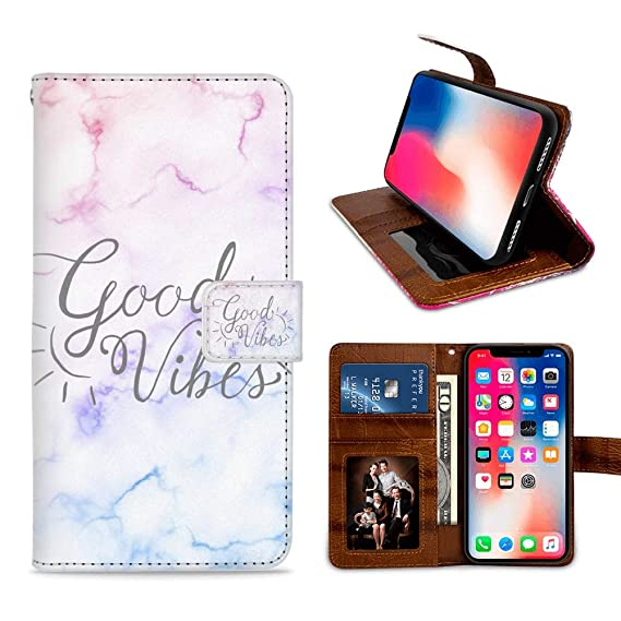 Amazon com: YOKIRIN Good Viber Wallet Case for iPhone X/10