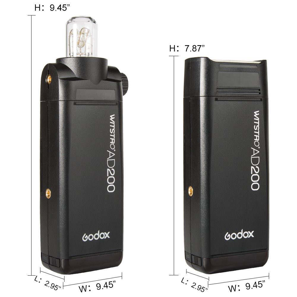 Godox AD200 TTL 2.4G HSS 1/8000s Pocket Flash Light Double Head 200Ws with 2900mAh Lithium Battery Flashlight Out Door Flash by Godox (Image #6)